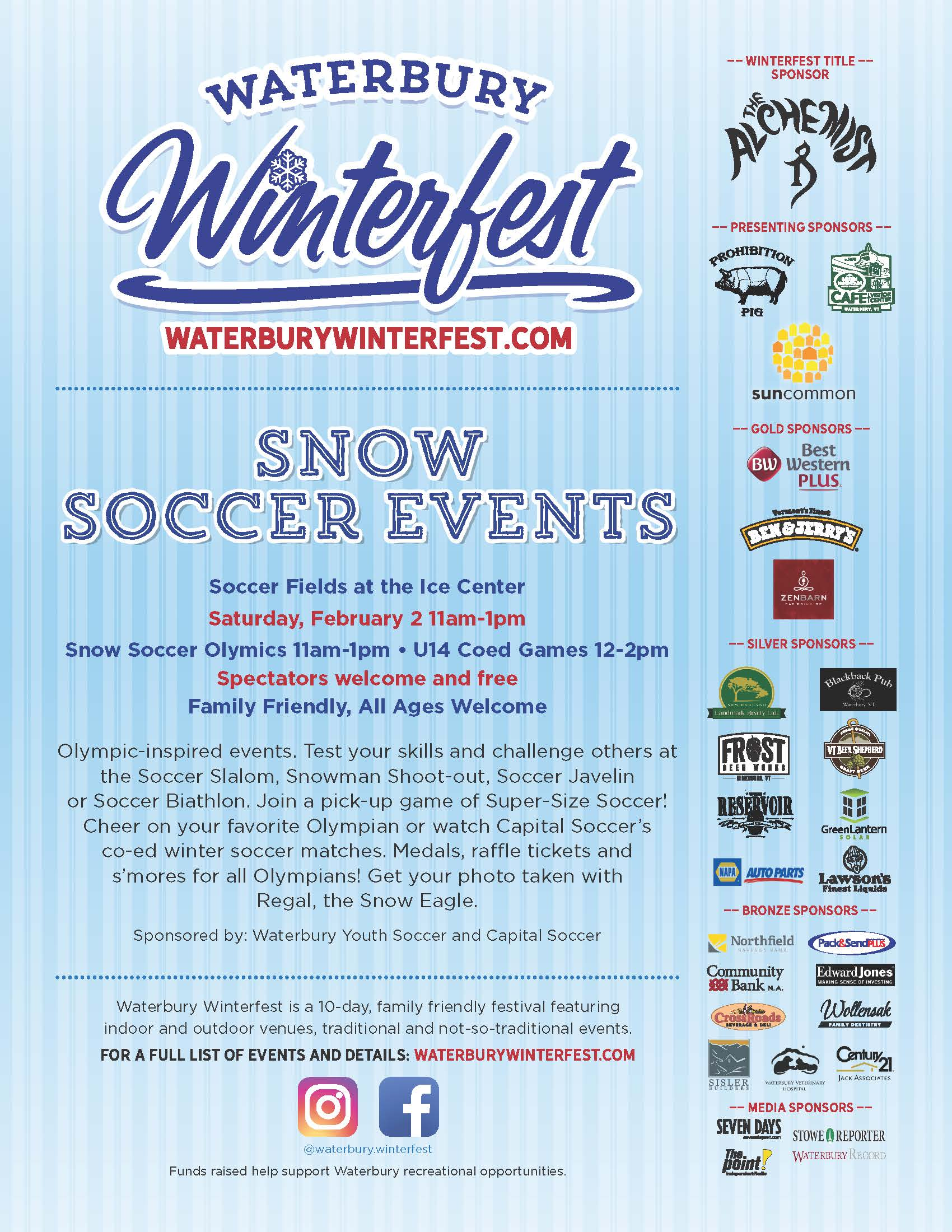 Snow Soccer and Waterbury Winterfest 2019